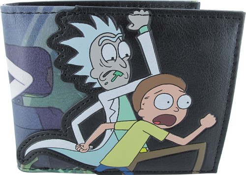 Rick and Morty Drink Run Bifold Wallet