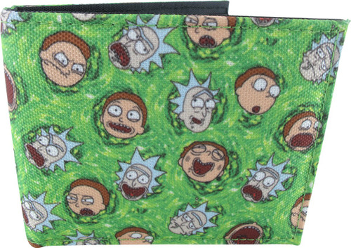 Rick and Morty Faces Bifold Wallet