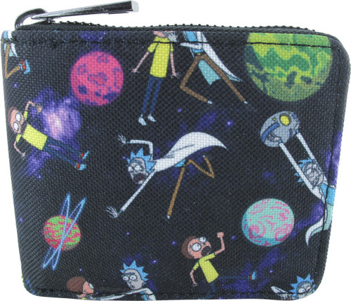 Rick and Morty Planets Zip Around Bifold Wallet