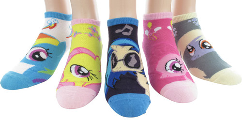 My Little Pony Characters 5 Low Cut Socks Set