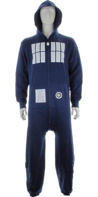 Doctor Who TARDIS Hooded OSFM Union Suit