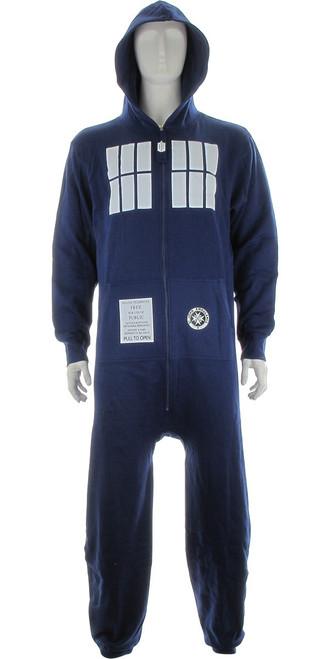 Doctor Who TARDIS Hooded OSFM Union Suit