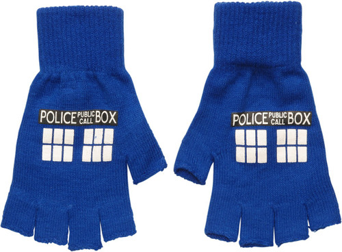 Doctor Who TARDIS Police Box Fingerless Gloves