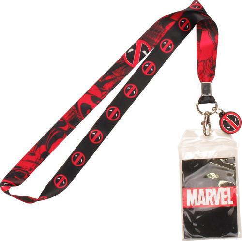 Deadpool Hero Logo Charm Lanyard