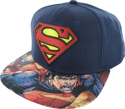 Superman Classic Logo Sublimated Bill Snapback Hat