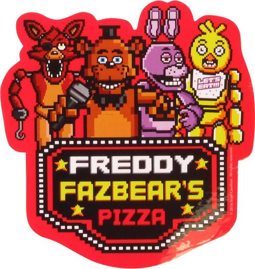 Five Nights at Freddy's 8-Bit Group Sticker