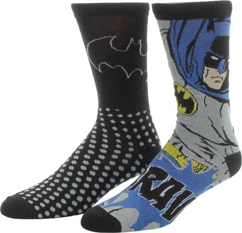 Batman Brave Logo Dots 2 Pair Socks Set