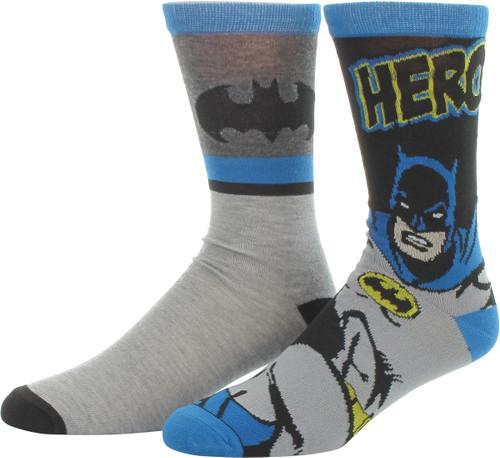 Batman Hero Logo 2 Pair Socks Set