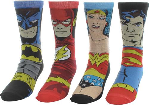 Justice League of America Heroes 4 Pair Socks Set