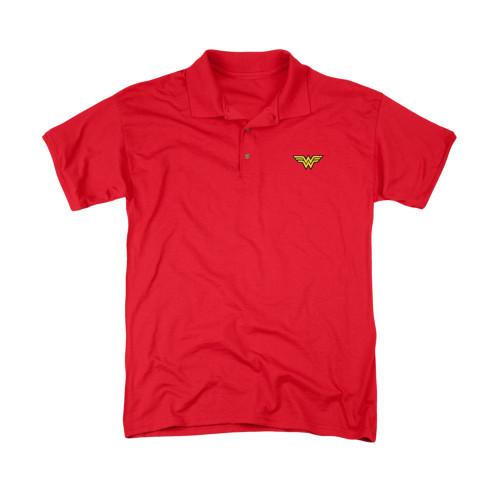 Wonder Woman Embroidered Logo Polo Shirt