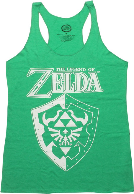 Zelda Name Shield Tank Top Juniors T-Shirt