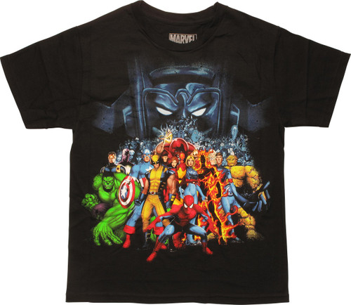 Marvel Superheroes and Villains Youth T-Shirt