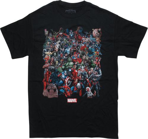 Marvel Universe Group Black T-Shirt