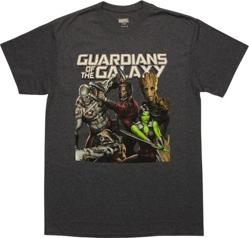 Guardians of the Galaxy Movie Hero Group T-Shirt