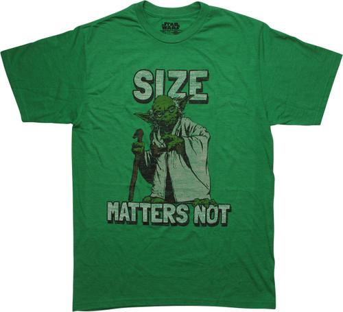 Star Wars Yoda Size Matters Not Distressed T-Shirt