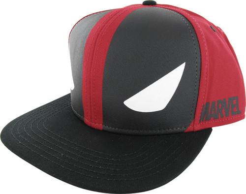 Deadpool Mask Eyes Snapback Hat