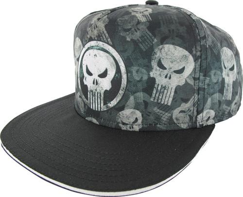 Punisher Circle Logo All Over Print Logo Hat