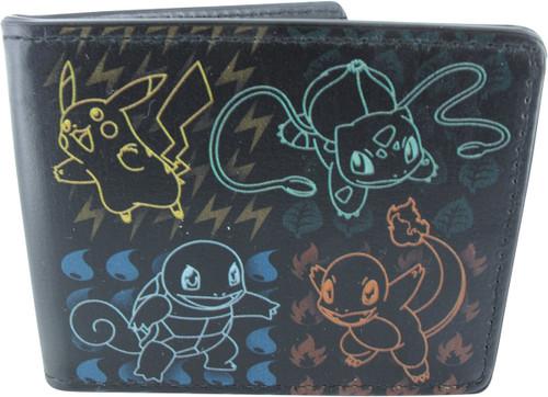Pokemon Starter Group Outlines Wallet