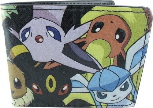 Pokemon Eevee Evolutions Faces Wallet