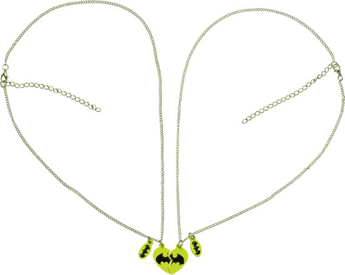 Batman Logo Partners Sweetheart Necklace Set