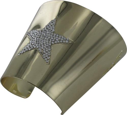 Wonder Woman Rhinestone Star Cuff Bracelet