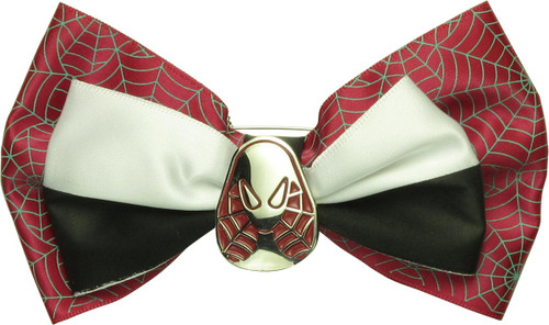 Spider-Gwen Mask Hair Bow