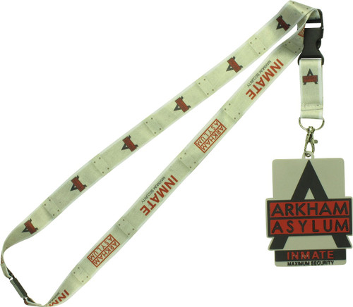 Batman Arkham Asylum Inmate with Rubber ID Lanyard