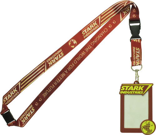 Iron Man Stark Industries Rubber ID Holder Lanyard