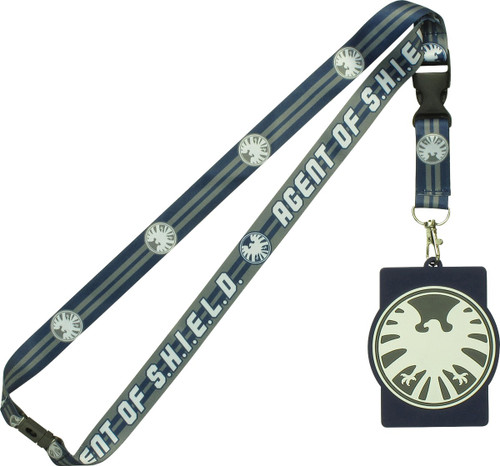 Agent of SHIELD with Rubber ID Holder Lanyard