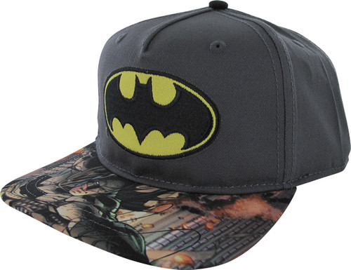 Batman Logo Sublimated Bill Snapback Youth Hat