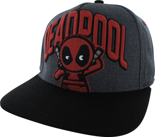 8a302dc7a Deadpool Name Kawaii Flat Bill Snapback Hat