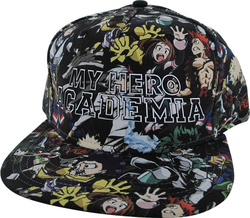 on sale dc956 71a54 My Hero Academia Group Sublimated Snapback Hat