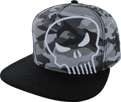 Punisher Logo Camouflage Snapback Hat