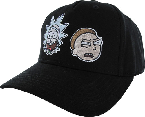 Rick and Morty Heads Faces Snapback Hat
