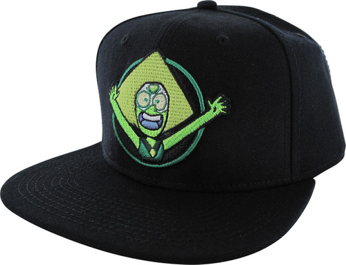 Steven Universe Peridot Black Snapback Hat