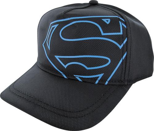 Superman Blue Logo Snapback Black Youth Hat