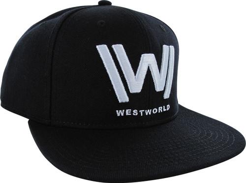 Westworld Logo Black Snapback Hat