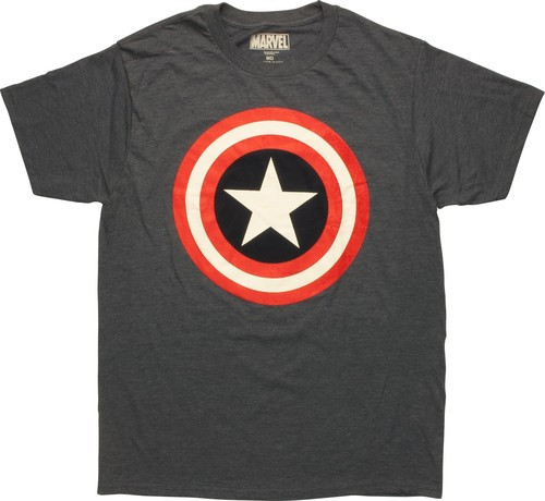 Captain America Solid Shield Logo Tall T-Shirt