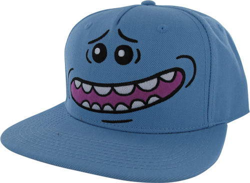 Rick and Morty Mr Meeseeks Big Face Snapback Hat
