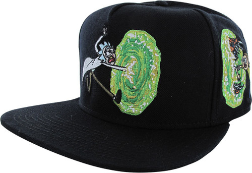 Rick and Morty Portal Black Snapback Hat