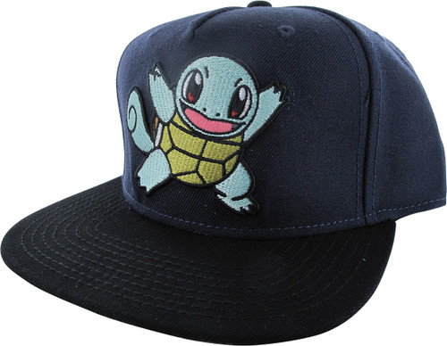 Pokemon Squirtle Navy Blue Snapback Hat