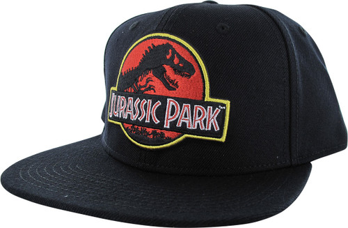 Jurassic Park Logo Black Snapback Hat