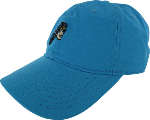 Wonder Woman Face Turquoise Buckle Hat