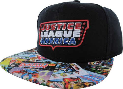 Justice League Logo Sublimated Bill Snapback Hat