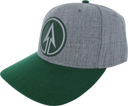Green Arrow TV Logo Heathered Gray Snapback Hat