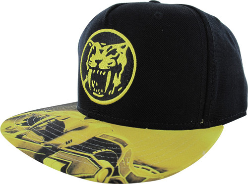 1b6c71bd194e5 Power Rangers Yellow Ranger Logo Snapback Hat