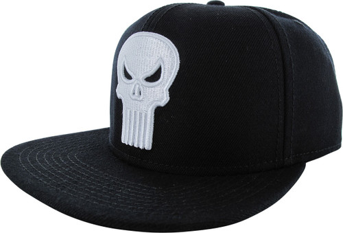 Punisher Classic Logo Black Snapback Hat