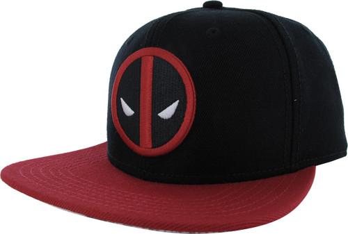 Deadpool Logo Red Brim Black Snapback Hat