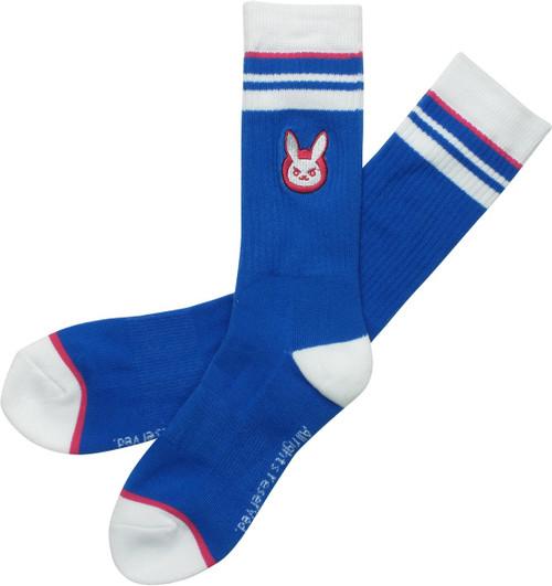 Overwatch DVA Logo Embroidered Crew Socks