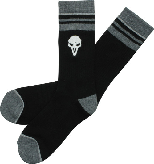 Overwatch Reaper Logo Embroidered Crew Socks